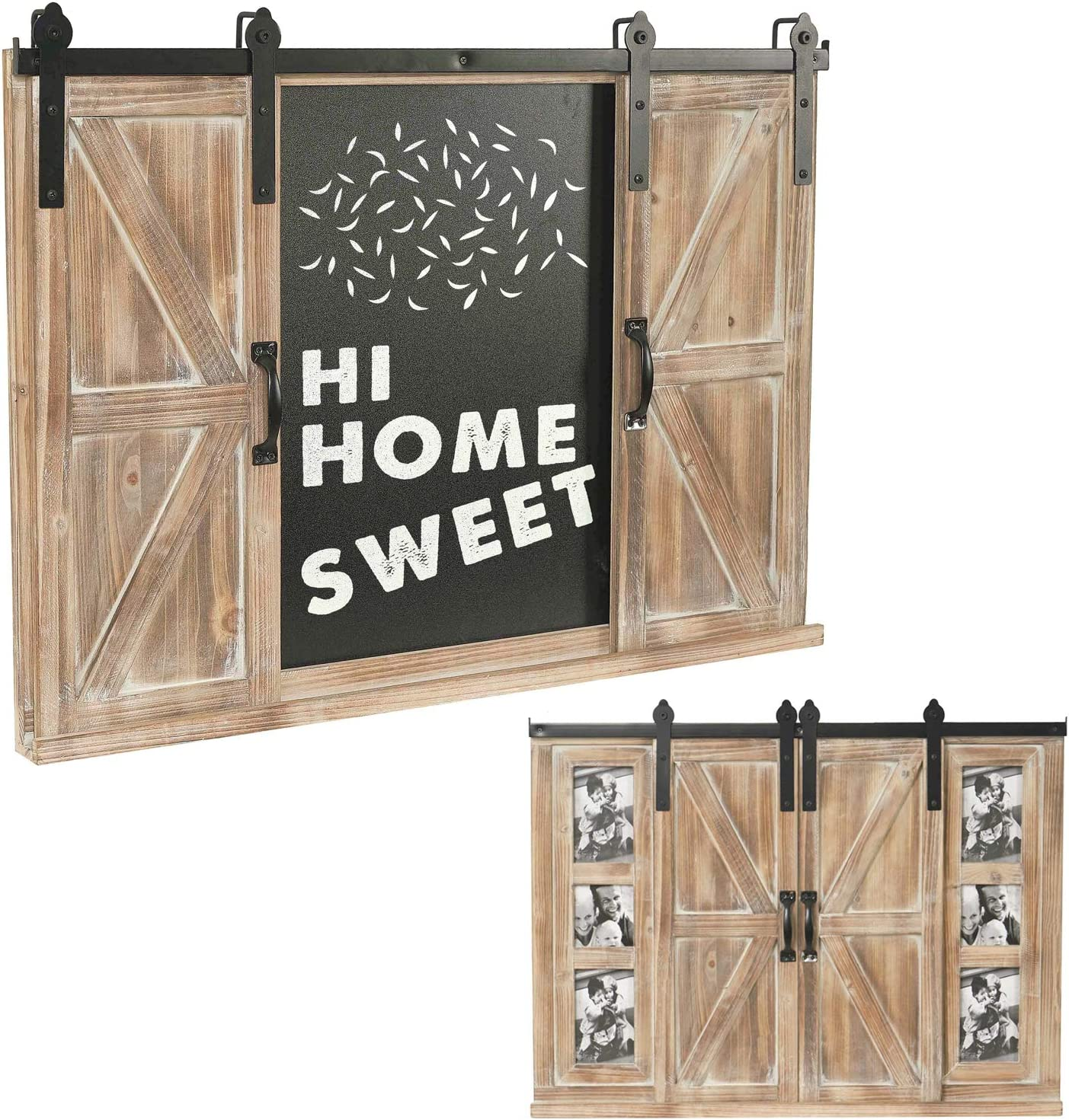 RiteSune Decorative Rustic Wooden Erasable Wall-Mounted Chalkboard, Hanging Wordpad Message Board, Blackboard for Foyer, Living Room
