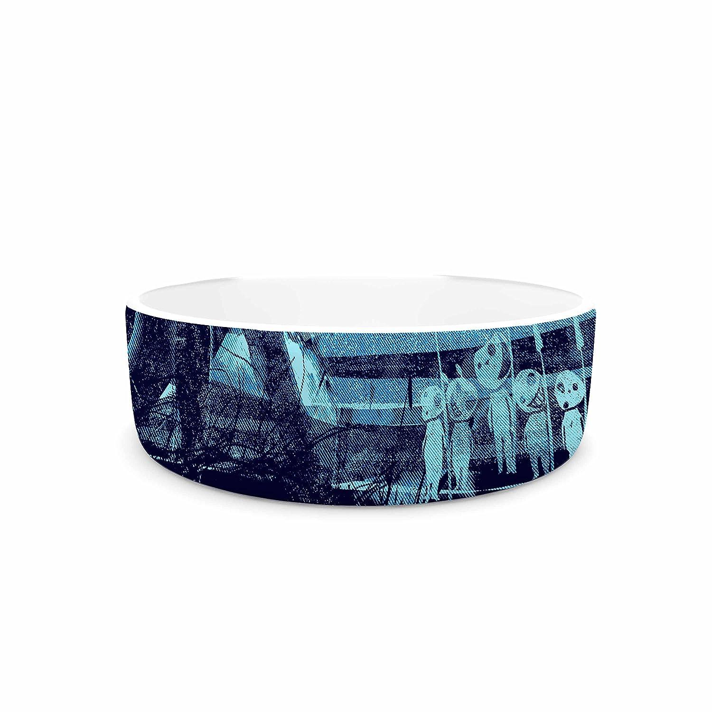 7\ KESS InHouse Frederic Levy-Hadida Nature Defenders  bluee Illustration Pet Bowl, 7