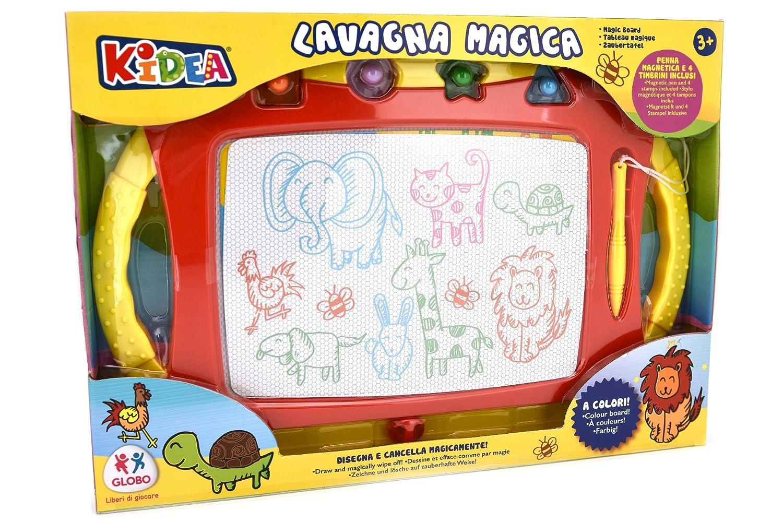 Kidea 38286 – Pizarra mágica de colores con bolígrafo y 4 moldes