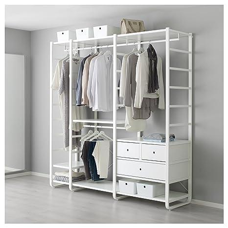 IKEA ELVARLI - 3 secciones blancas: Amazon.es: Hogar