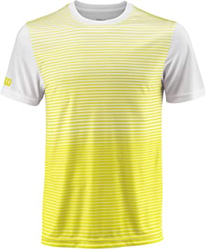 Wilson, M Team Striped Crew, Camiseta deportiva de hombre: Amazon ...