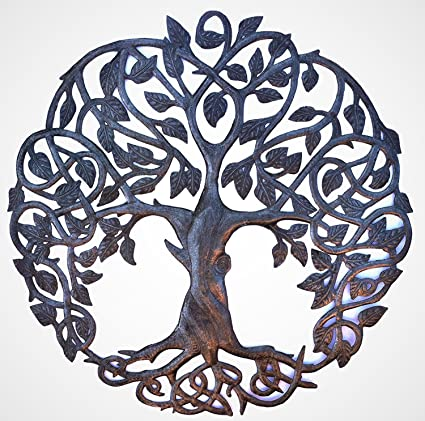 Amazon.com: it\'s cactus - metal art haiti Celtic Inspired Tree of ...