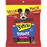 Schmackos Strapz Liver Flavour Dog Treats 2kg Value Pack, (4 x 500g Bags)