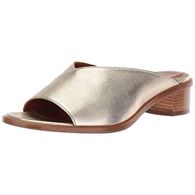 Amazon.com | Aquatalia Women's Raven Metallic Leather Mule | Shoes