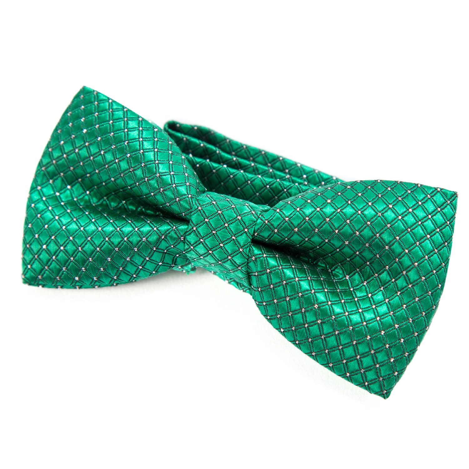 DonDon comfortable Boys bow tie with polka dots pre-tied with adjustable length silk look for children in various colors K-FLG25