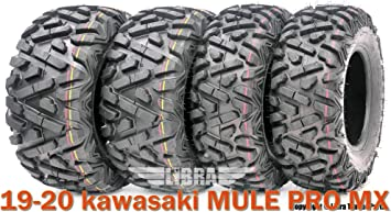 19-20 kawasaki MULE PRO MX ATV Tire Set WANDA 25x8-12 25x10-12 lit Mud