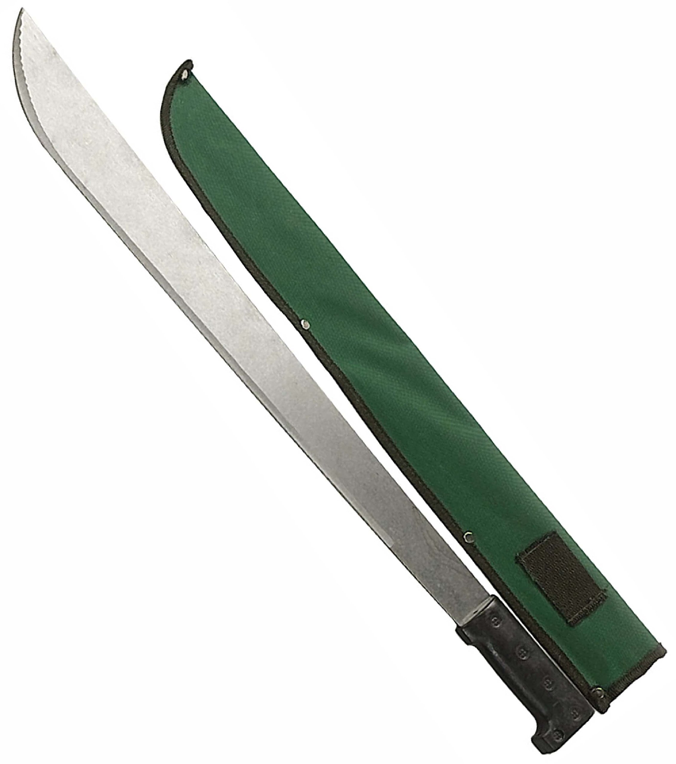 ToolUSA Steel Machete With Storage Pouch And Plastic Handle - 22 Inches Long: G-12309