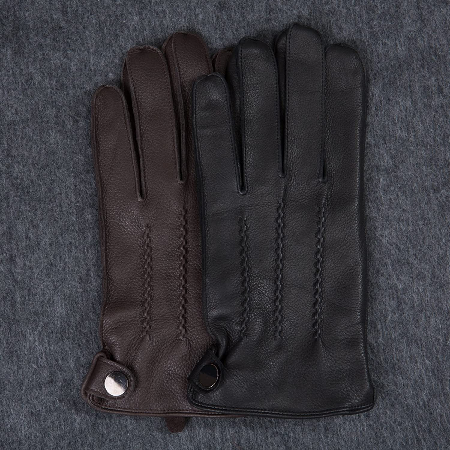 Mens leather gloves xl - Matsu Men Winter Warm Deerskin Leather 100 Cashmere Lined Motorcycle Driving Dress Leather Gloves M1066 At Amazon Men S Clothing Store