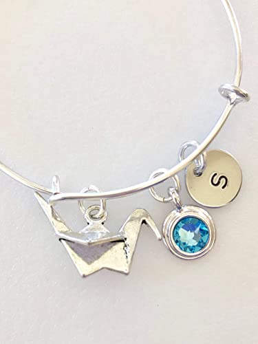 ORIGAMI CRANE NECKLACE Japanese Symbol of Hope and Healing NEW Bird Pendant Gift