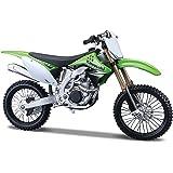 Maisto Kawasaki KX 450F Motorcycle 1:12 Scale Toy For Kids (Green And White)
