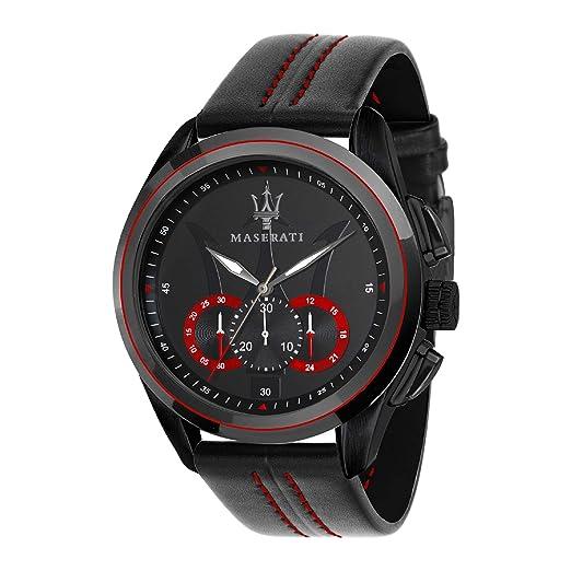 MASERATI Reloj Cronógrafo para Hombre de Cuarzo con Correa en Cuero R8871612023: Amazon.es: Relojes