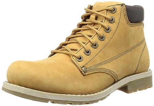 Skechers Shockwaves Various 61746 WTN - Botas de cuero para hombre, color marrón, talla