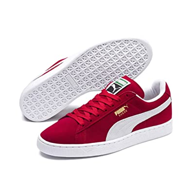 red puma shoes suede