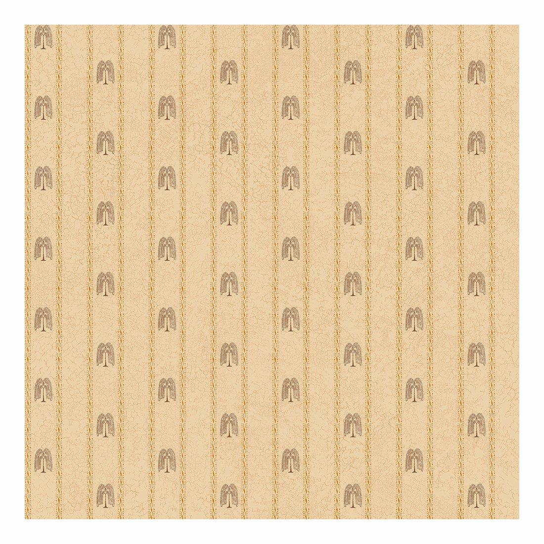 York Wallcoverings SM8727SMP Small Treasures Primitive Weeping Willow Stripe 8 x 10 Wallpaper Memo Sample