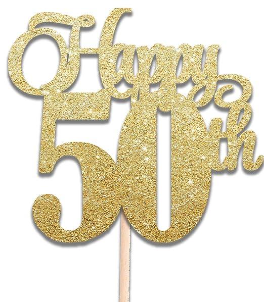 HapPY® - Decoración para tarta con purpurina dorada de 50 ...