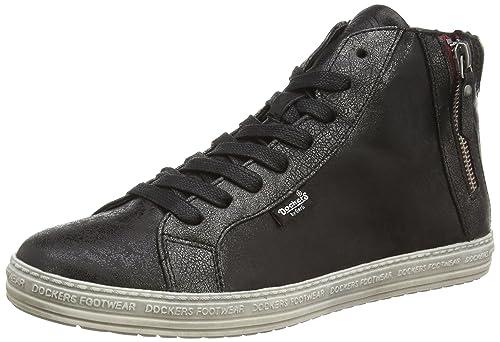 best-boots Sneaker Donna, Nero (Schwarz Silber Nero Nuovo), 37