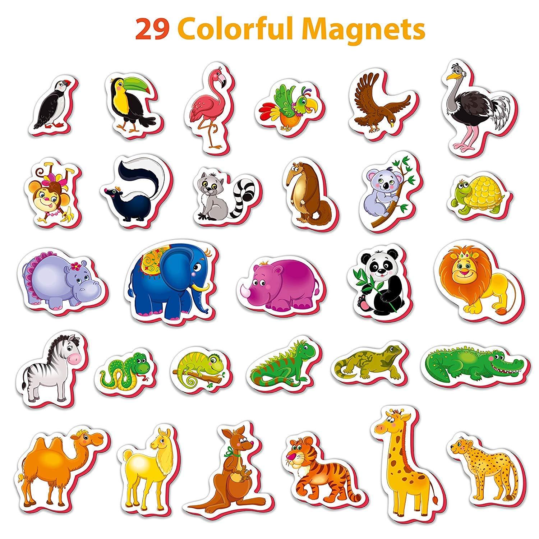 Roter Kafer Imanes nevera para niños Animales Zoo 29 piezas ...