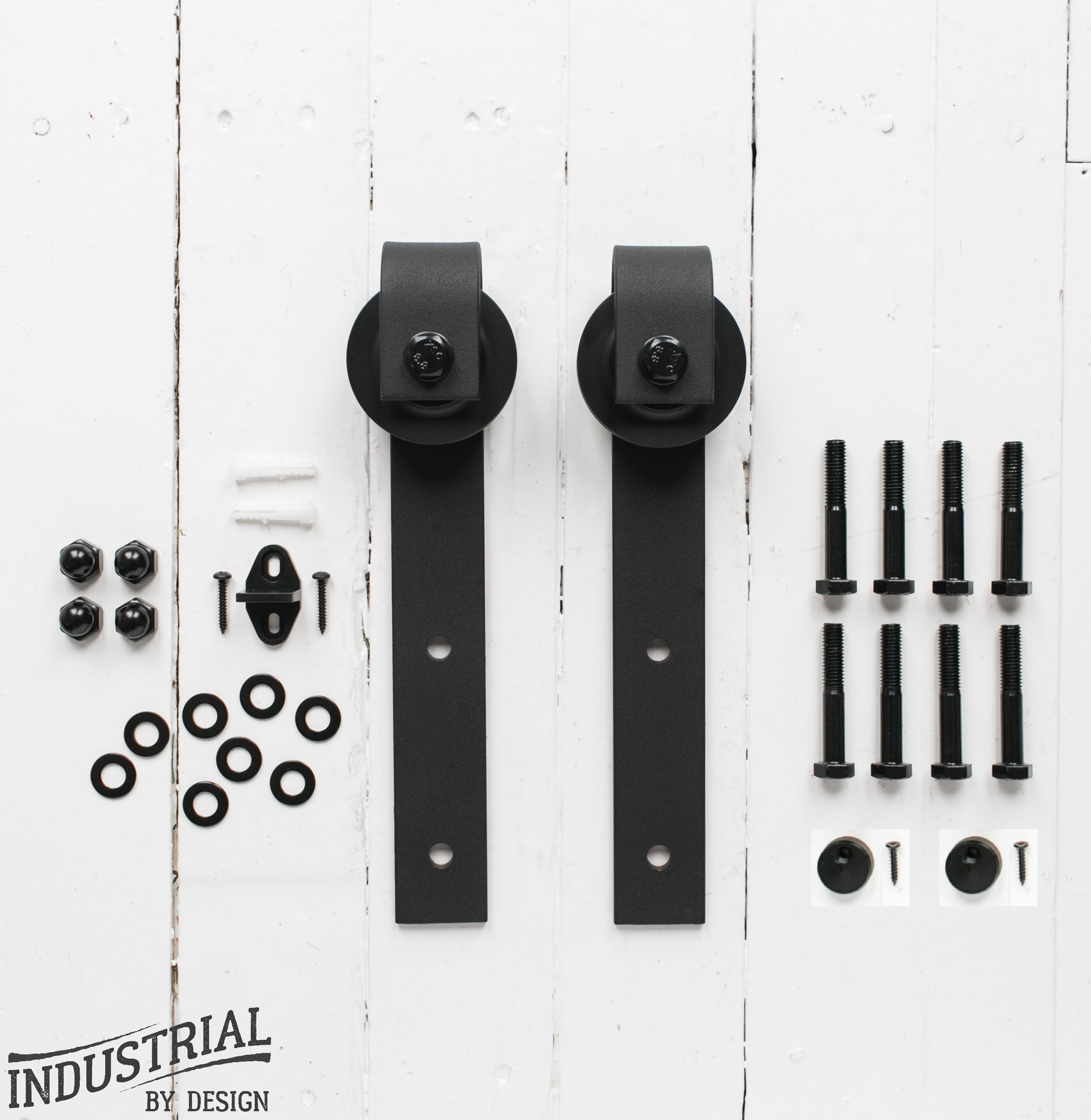 Sliding Barn Door Hangers (Black, Pair) ▫ Ultra Quiet, Successfully Tested Beyond 100,000 Rolls ▫ Industrial Strength ▫ Extra Hangers Only, No Rail