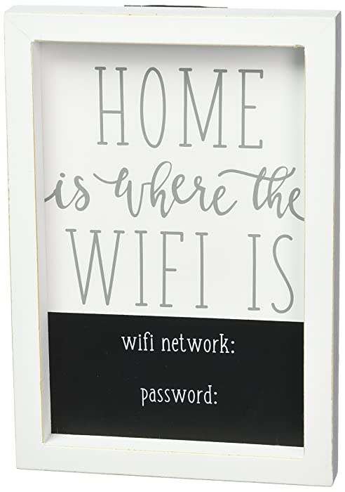 Mud Pie WiFi Home Decor Plaque, One Size, White
