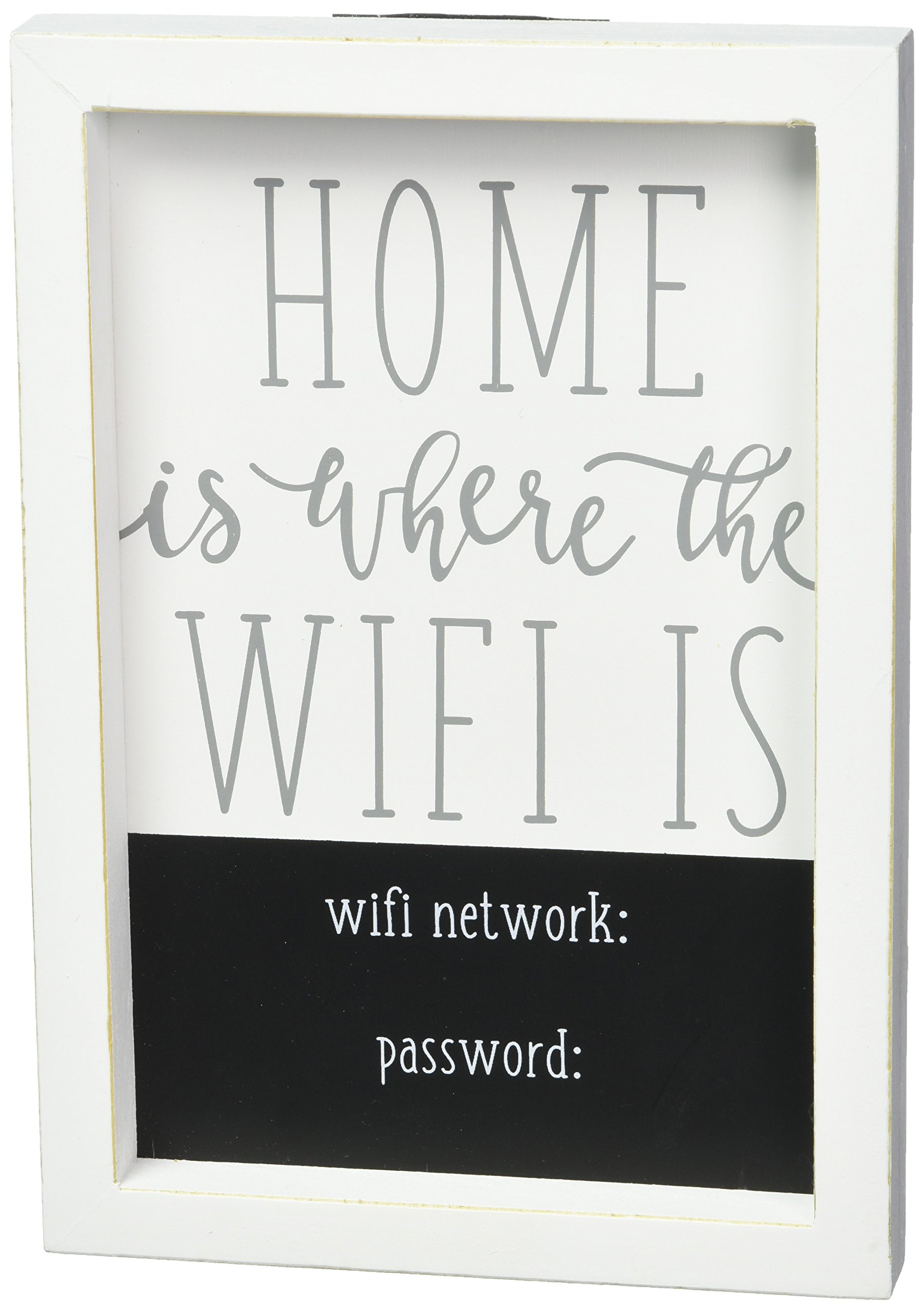 Mud Pie WiFi Plaque Home Decor, One Size, White