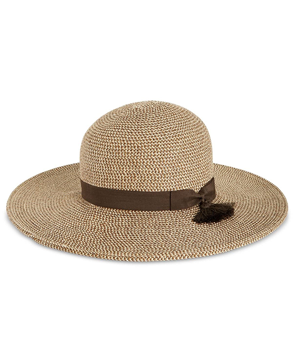 45da5550581 Nine West Womens Packable Floppy Hat One Size Brown at Amazon Women s  Clothing store