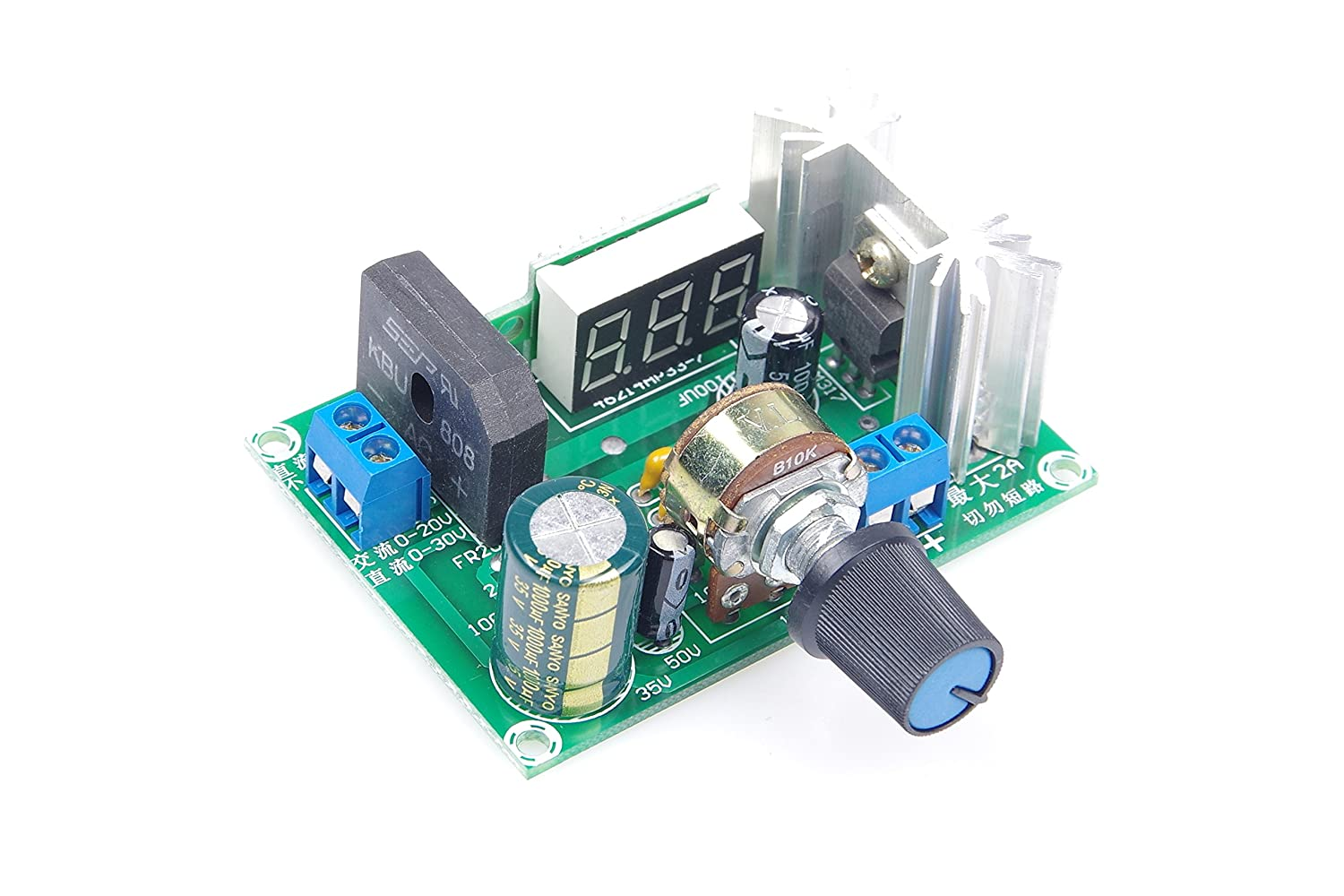 Knacro Led Lm317 Step Down Power Supply Module And Built The Circuit As Shown Using An Voltage Regulator Adjustable Input Dc 0v 30v Ac 22v Output 125v 2a Electronics