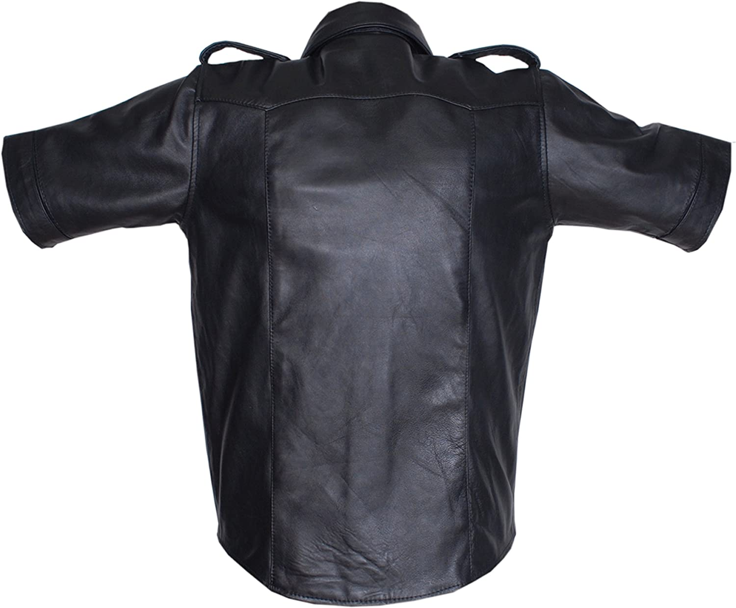 Mens Classic Model Fashion Cowhide Leather Jacket /& Color Black Size Small to 3XL