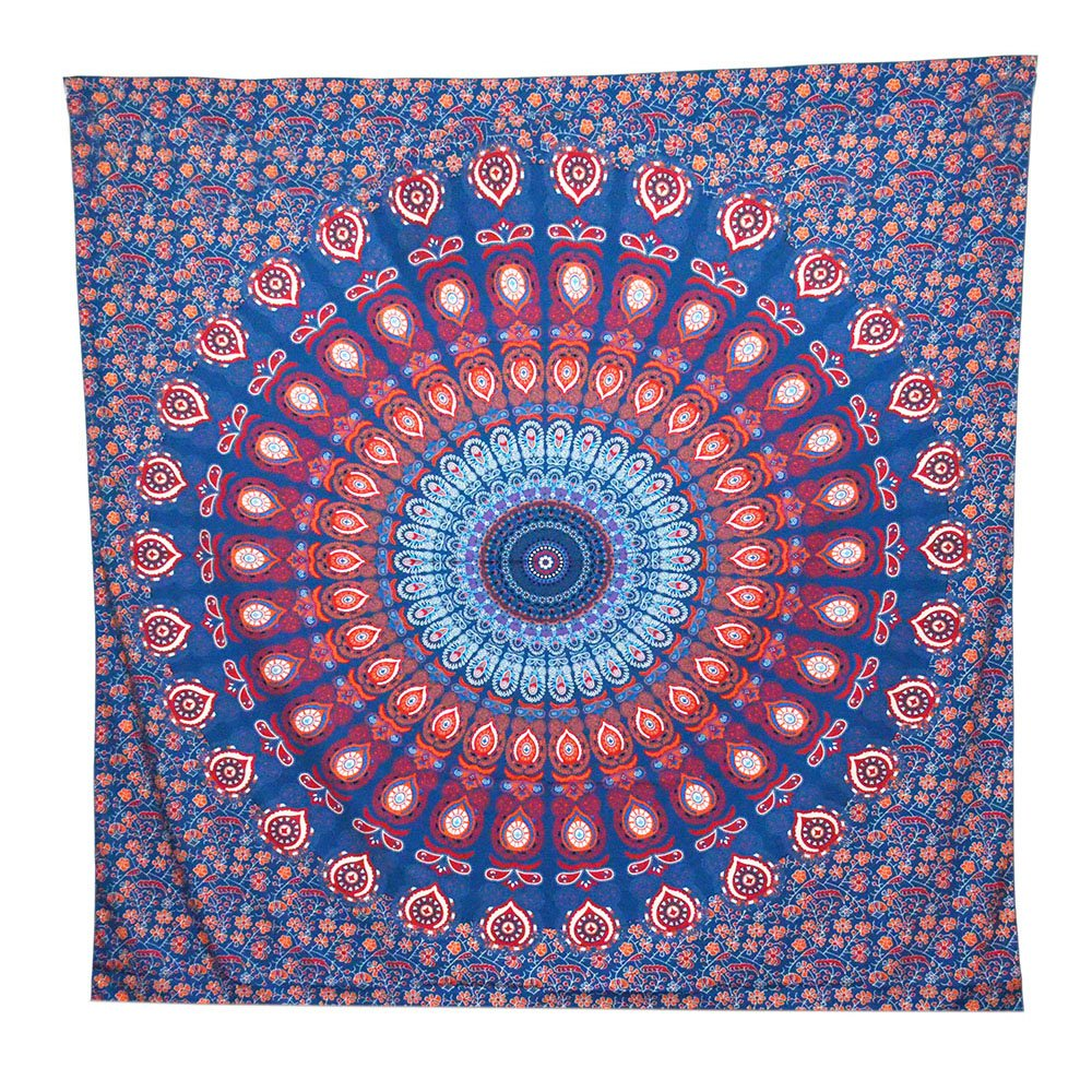 ACRAFT Turquoise Wall Decor Mandala Tapestry Blue Teal Wall Hanging Tapestries for Bedroom Yoga Beach (Turquoise) T1707A