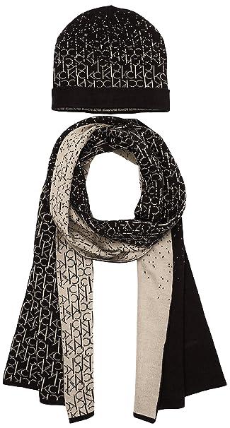 more photos 41f74 341e2 Calvin Klein Jeans Logo Gift, Set cappello e sciarpa da donna