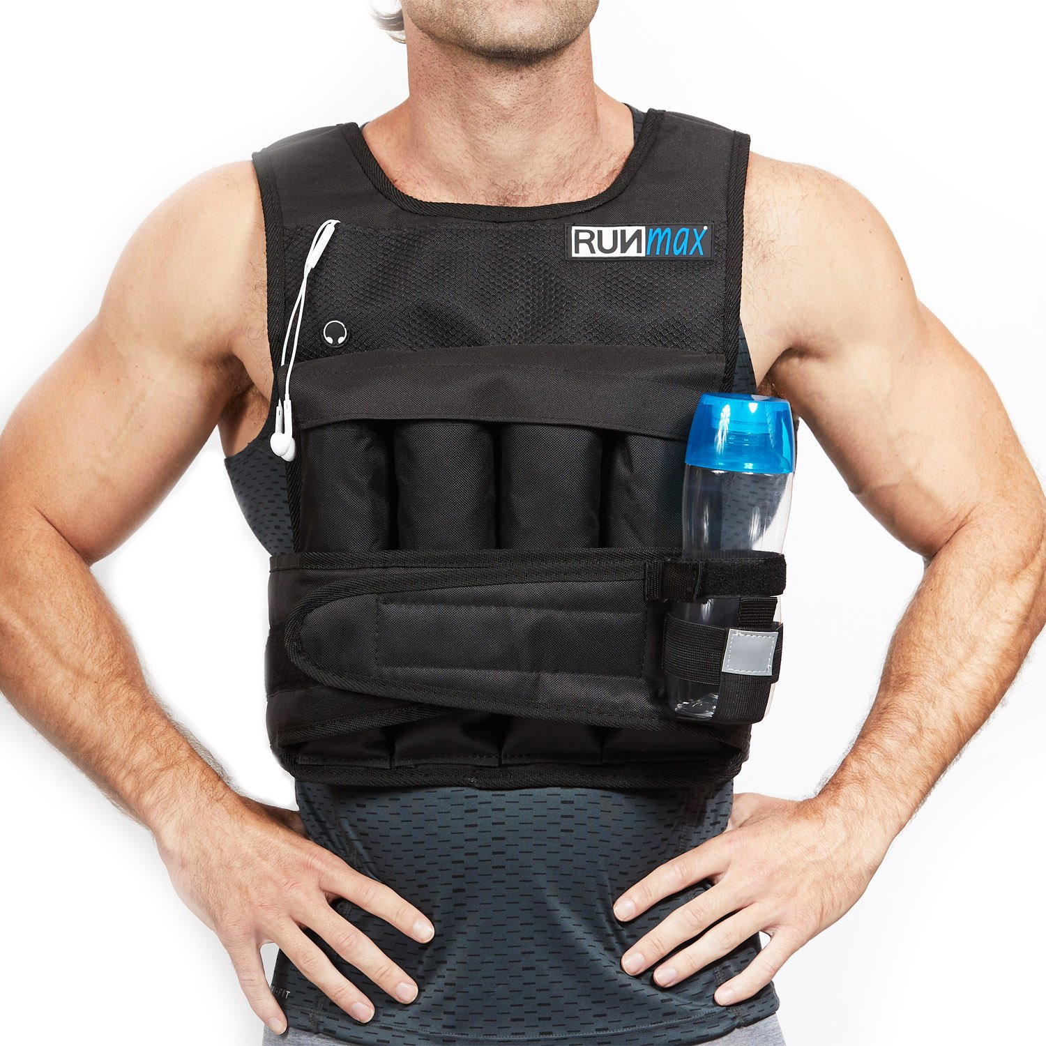 RUNmax RUNFast RM_20 Pro Weighted Vest, 20 lb. by RUNmax (Image #3)