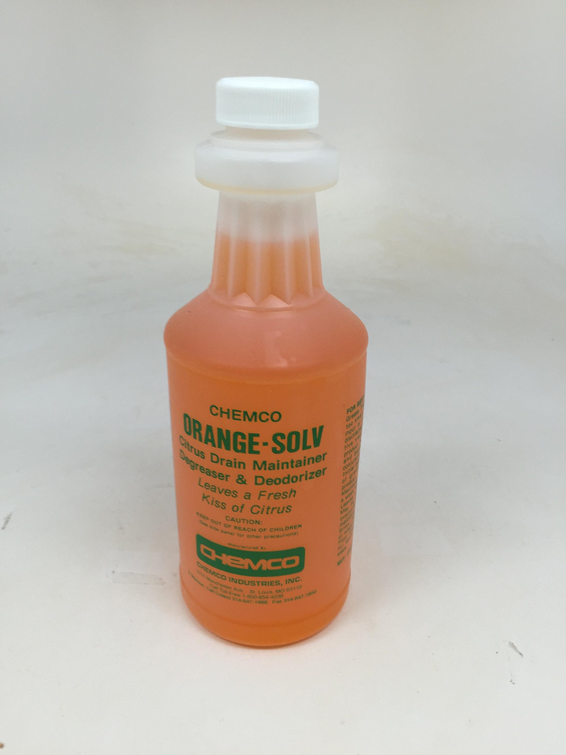Orange Solv Special, Citrus Based Drain Maintainer, 12 pints per case by Chemco Industries