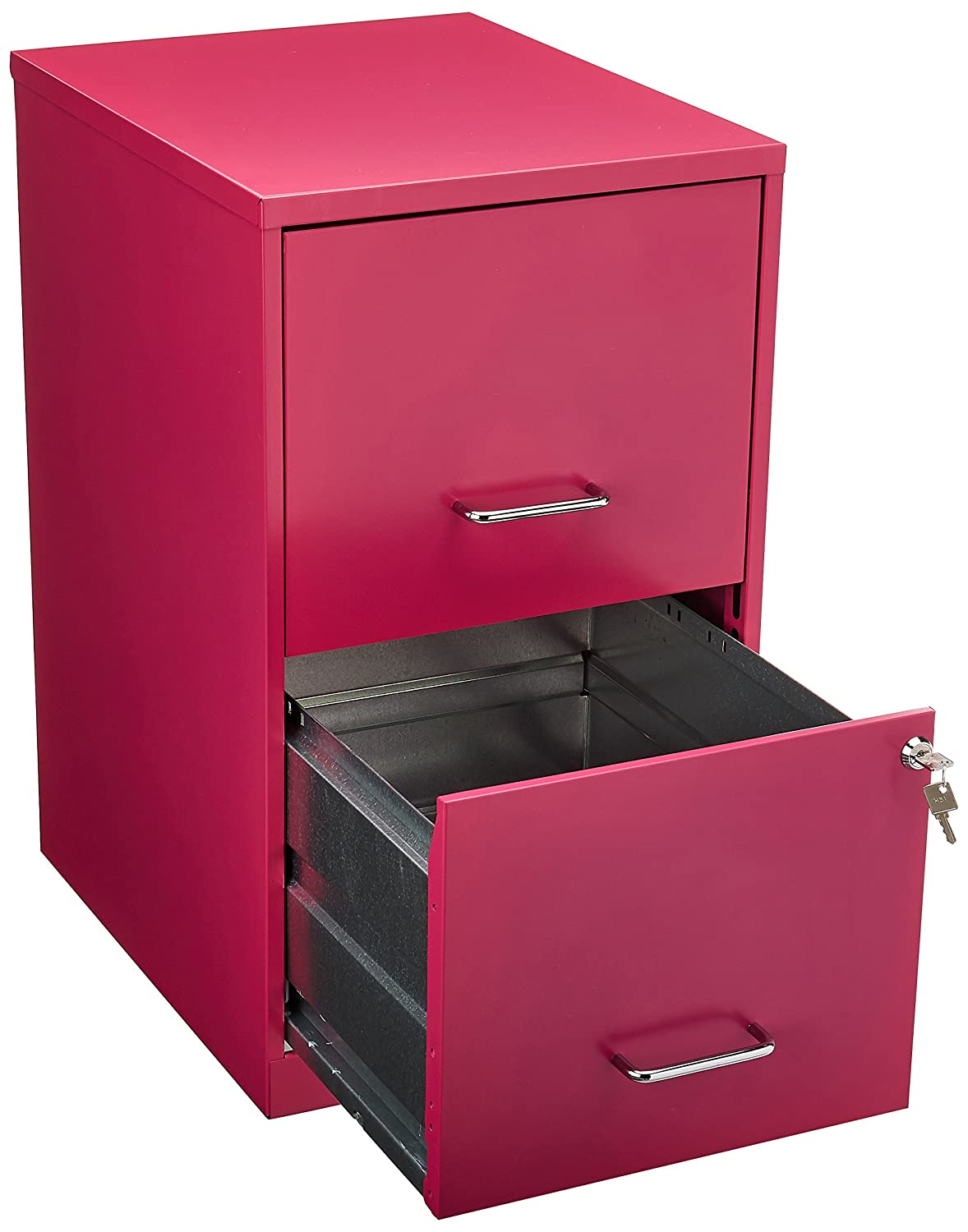 Hirsh 2 Drawer File Cabinet In Pink