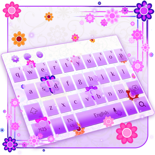Pink Flowers Keyboard Theme