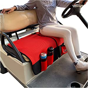10L0L Golf Cart Seat Blanket Covers for Club Car DS Precedent & EZGO TXT RXV, Double-Sided Design Breathable Air Mesh & Blanket Washable