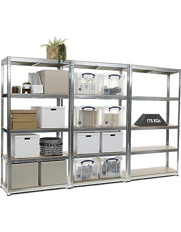 Estantería resistente de 3 compartimentos galvanizados para garaje de 175  kg de carga por estante ( 7a47ca7d0bb9