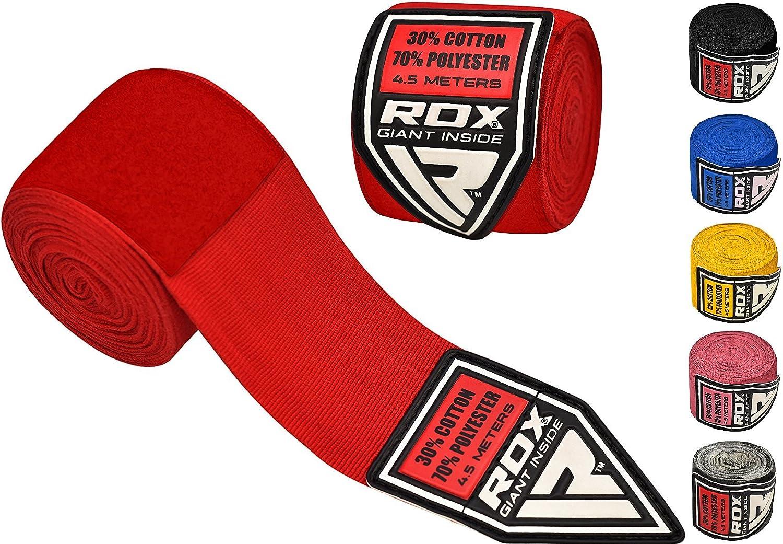RDX HWX-RR - Vendas boxeo unisex, color rojo RDX Sports