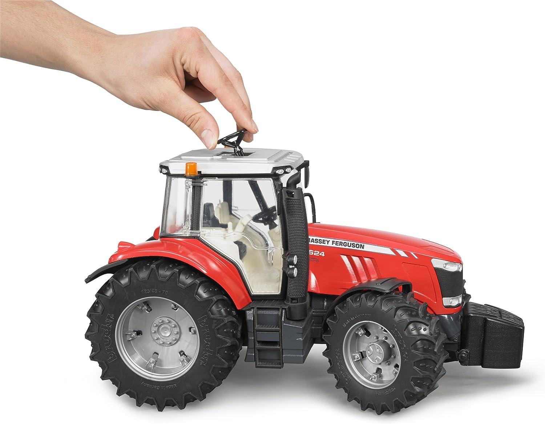 Bruder 03046 Massey Ferguson 7624, Rot: : Spielzeug