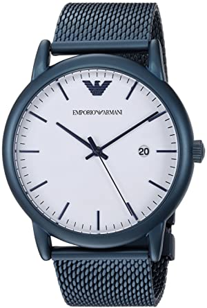 ab99d5966 Image Unavailable. Image not available for. Color: Emporio Armani Men's  Luigi Analog-Quartz Watch with Stainless-Steel-Plated Strap,