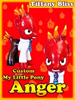 ANGER Inside Out Customized My Little Pony Disney Pixar Summer Movie Tutorial Custom Toy How To