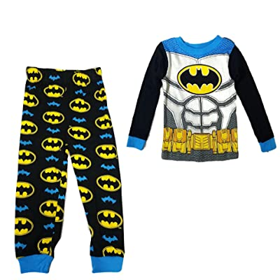 AME DC Comics Batman Little Boys' New Look Long Sleeve Pajamas Cotton Pajamas Tight Fit
