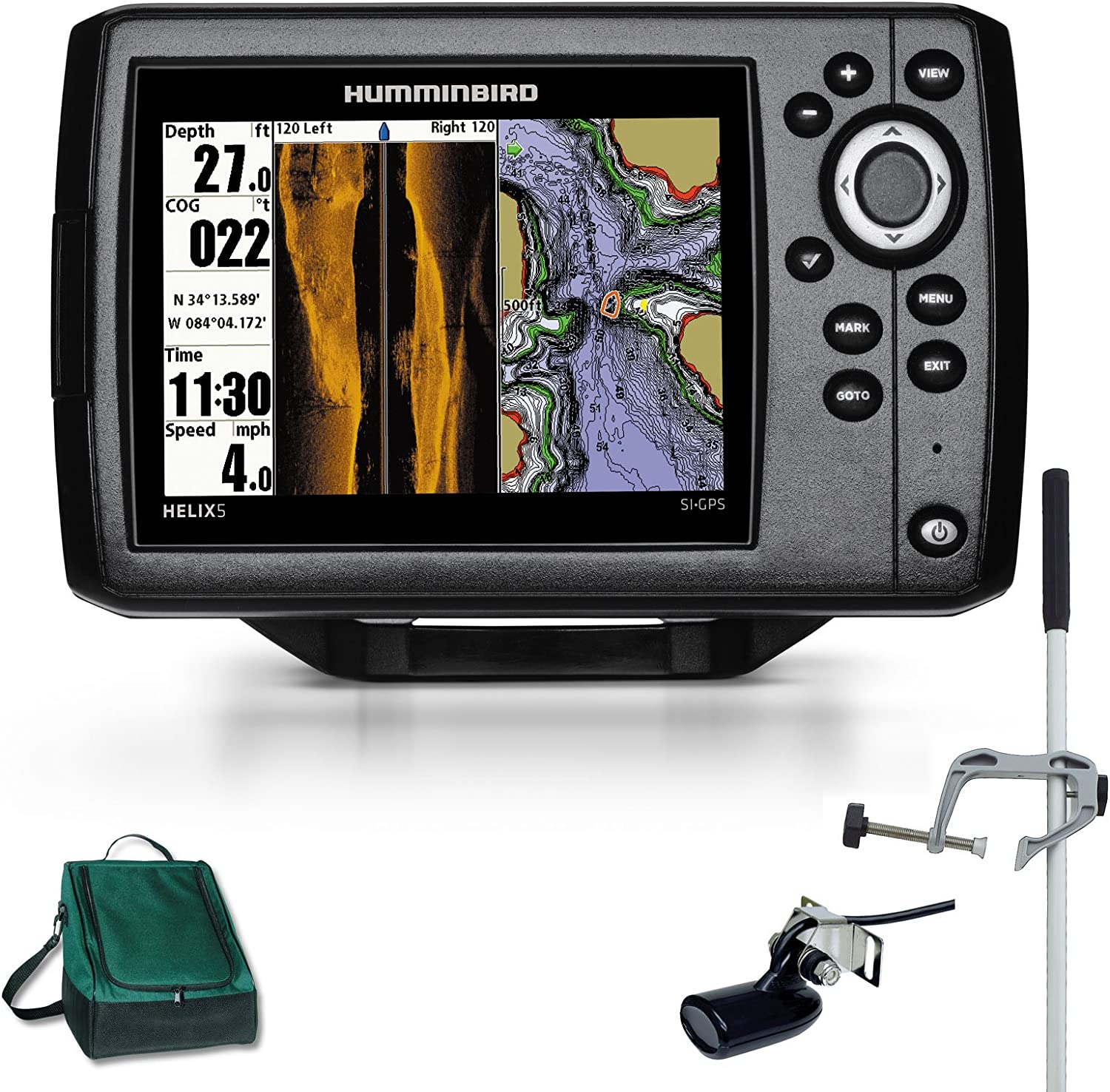 Humminbird Side Imaging GPS Helix 5 x SI Echolot Combo bertronic Master Plus: Amazon.es: Deportes y aire libre