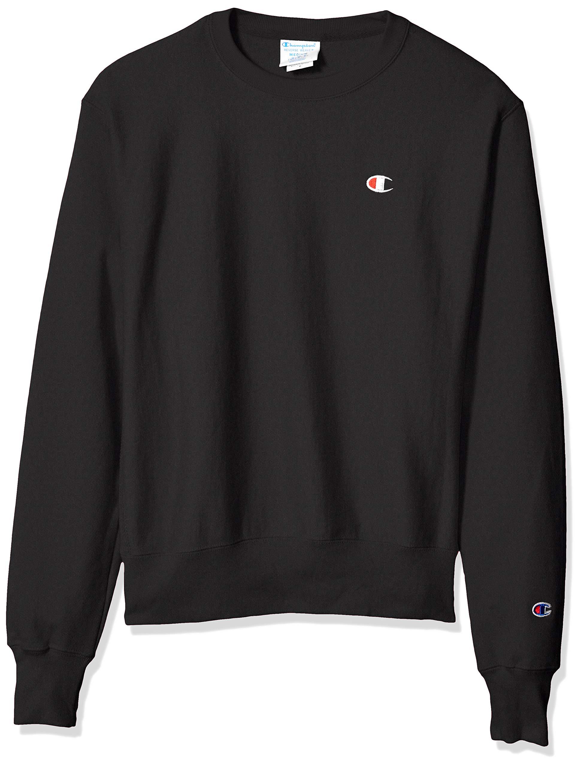 Champion LIFE Men's Reverse Weave Sweatshirt, Black, Small