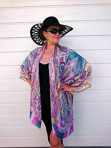 Amazoncom Silk Kimono Robe Plus Size Duster Jacket Bridesmaid