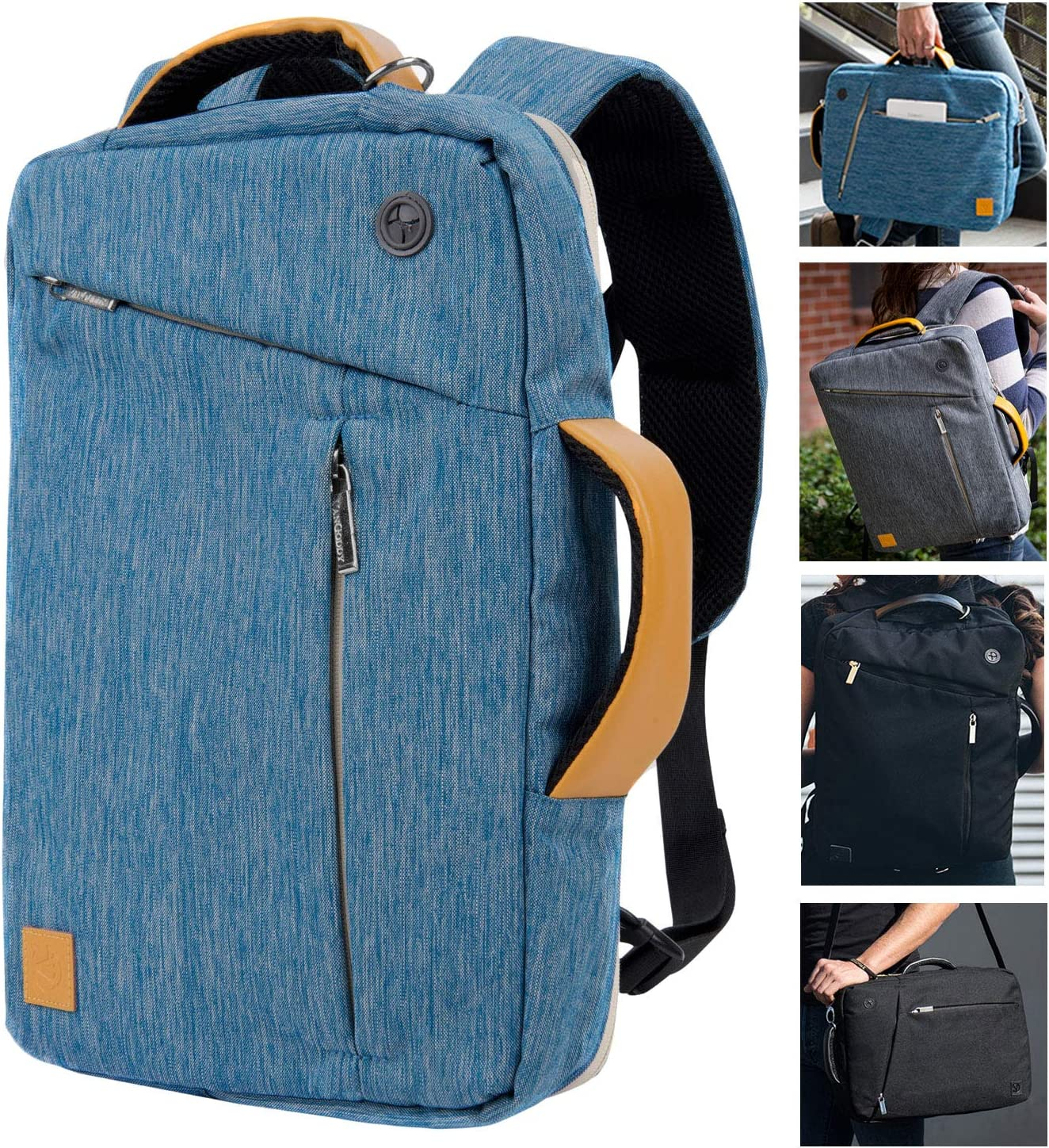 Roxie 15.6 inch Convertible Laptop Backpack Sleeve Case for Lenovo IdeaPad 330 320 HP 15 Pavilion Pro 15 x360 15.6 Acer Aspire 6 CB515 Chromebook DELL Inpiron 15 5000 5570 G3 15 Gaming