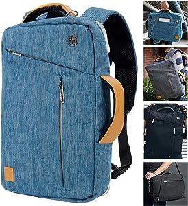 Convertible Laptop Messenger Bag Backpack Shoulder Briefcase 14 Inch for Acer Asus Dell Lenovo Chromebook Zenbook Notebook MacBook Surface Book 13.3 14 Inch