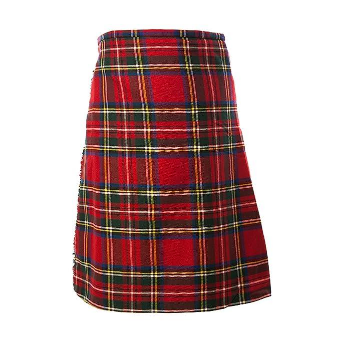 TARTAN TWEEDS Royal Stewart de Cuadros Escoceses para Falda ...