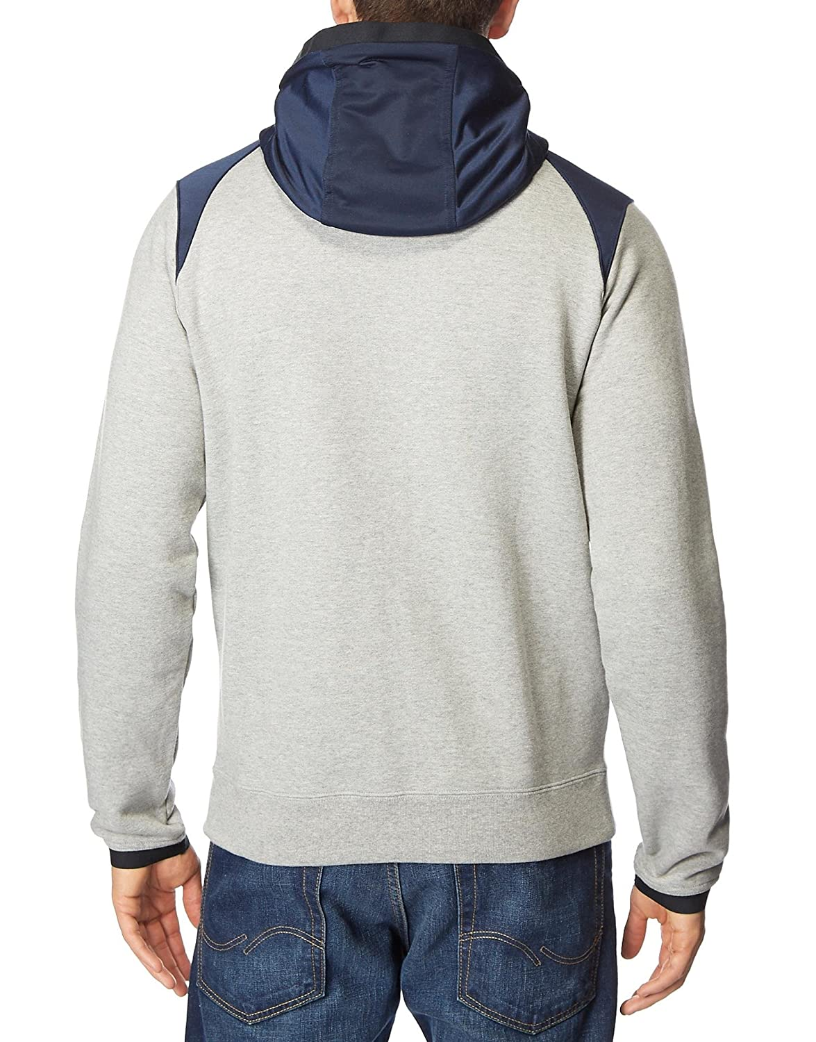 Nike Hybrid Fleece Tracksuit Top Hoodie (Small, Grey/Blue ...