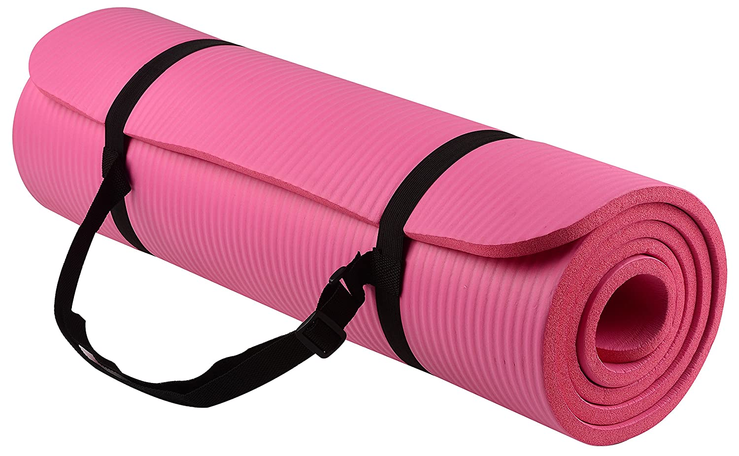 yoga mat and workout clothes