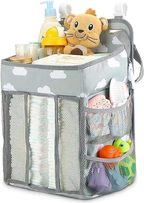KINJOHI Organizador de carrito de pa/ñales colgantes bolsa de almacenamiento de cuna apilador de pa/ñales bolsa de colgar multifunci/ón