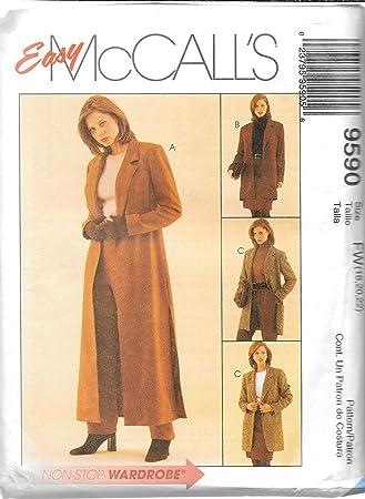 McCall \'s 9590 Schnittmuster Schnittmuster Duster oder Jacke ...